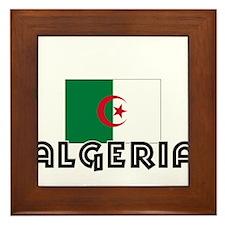 I HEART ALGERIA FLAG Framed Tile