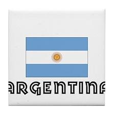 I HEART ARGENTINA FLAG Tile Coaster