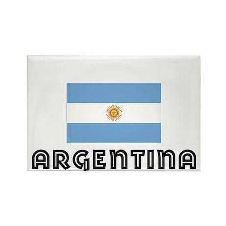 I HEART ARGENTINA FLAG Rectangle Magnet