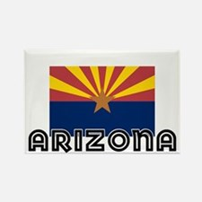 I HEART ARIZONA FLAG Rectangle Magnet