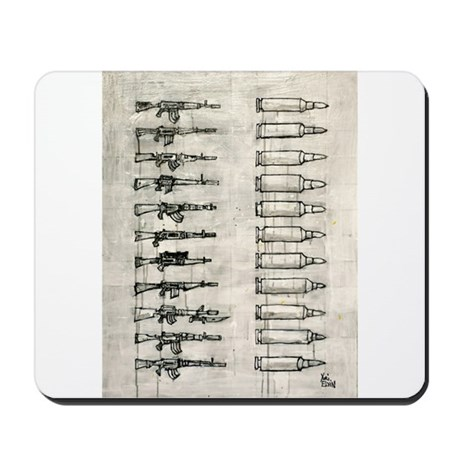 Rifles and Bullets Mousepad