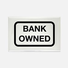 Bank Owned Sign Rectangle Magnet