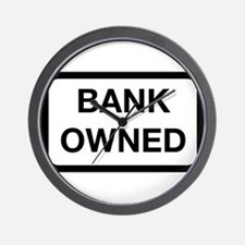Bank Owned Sign Wall Clock
