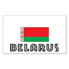 I HEART BELARUS FLAG Decal