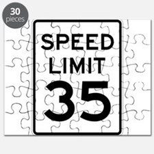 Speed Limit 35 Sign Puzzle