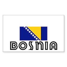 I HEART BOSNIA FLAG Decal