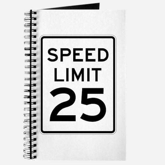 Speed Limit 25 Sign Journal