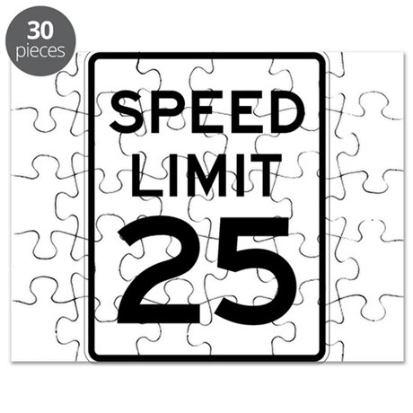 Speed Limit 25 Sign Puzzle