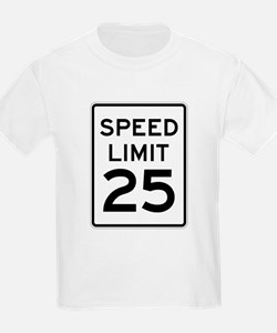 Speed Limit 25 Sign T-Shirt