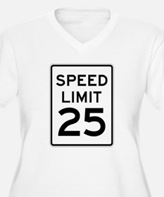 Speed Limit 25 Sign Plus Size T-Shirt