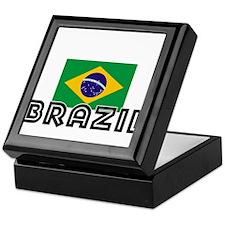 I HEART BRAZIL FLAG Keepsake Box