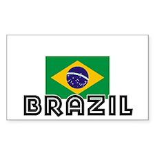 I HEART BRAZIL FLAG Decal