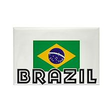 I HEART BRAZIL FLAG Rectangle Magnet