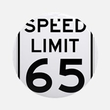 Speed Limit 65 Sign Ornament (Round)