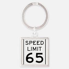 Speed Limit 65 Sign Keychains