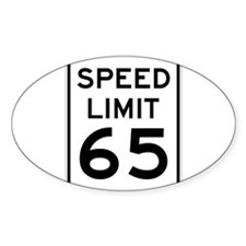 Speed Limit 65 Sign Decal