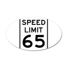 Speed Limit 65 Sign Wall Decal