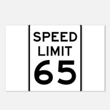 Speed Limit 65 Sign Postcards (Package of 8)