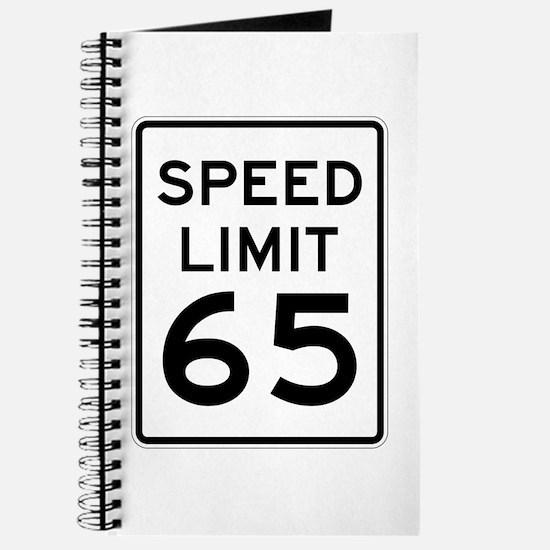Speed Limit 65 Sign Journal