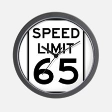 Speed Limit 65 Sign Wall Clock