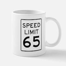 Speed Limit 65 Sign Mug