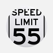 Speed Limit 55 Sign Ornament (Round)