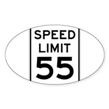 Speed Limit 55 Sign Decal