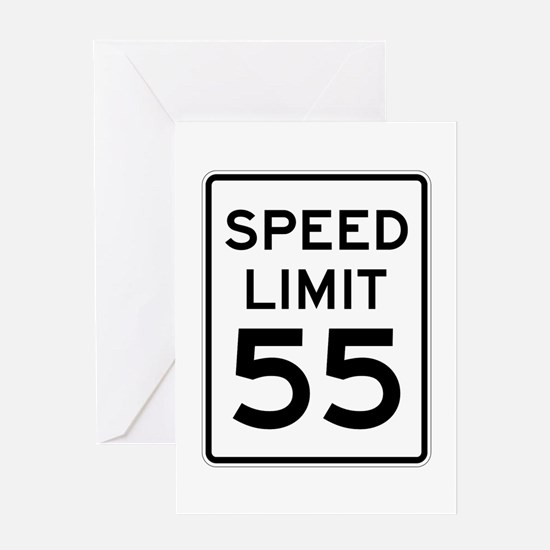 Speed Limit 55 Sign Greeting Card