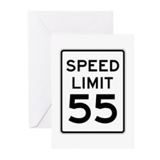 Speed Limit 55 Sign Greeting Cards (Pk of 10)