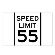 Speed Limit 55 Sign Postcards (Package of 8)