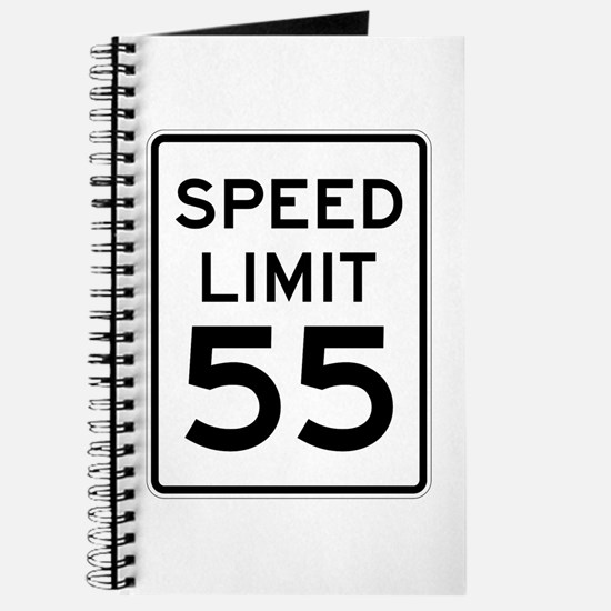 Speed Limit 55 Sign Journal