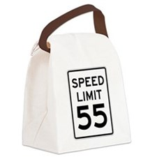 Speed Limit 55 Sign Canvas Lunch Bag