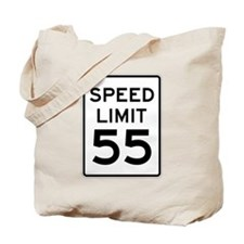 Speed Limit 55 Sign Tote Bag