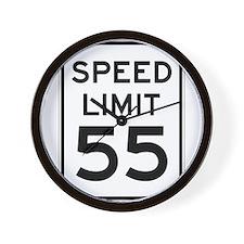 Speed Limit 55 Sign Wall Clock