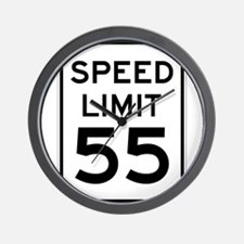 Speed Limit 55 Sign Wall Clock