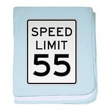 Speed Limit 55 Sign baby blanket