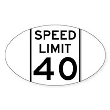 Speed Limit 40 Sign Decal