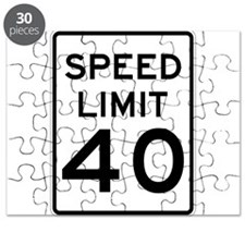 Speed Limit 40 Sign Puzzle