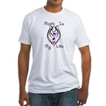 Music Note Tribal Tattoo Fitted T-Shirt