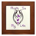 Music Note Tribal Tattoo Framed Tile