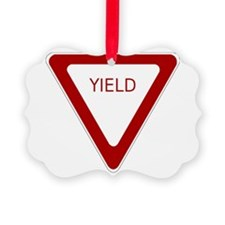 Yield Sign Ornament