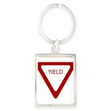 Yield Sign Keychains