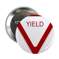 "Yield Sign 2.25"" Button (100 pack)"