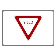 Yield Sign Banner