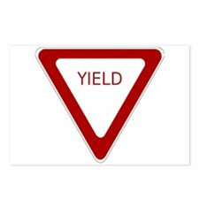 Yield Sign Postcards (Package of 8)