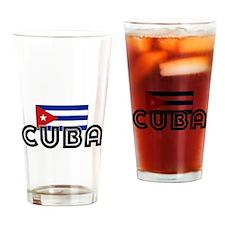 I HEART CUBA FLAG Drinking Glass