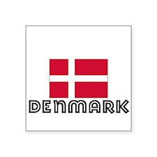 I HEART DENMARK FLAG Sticker