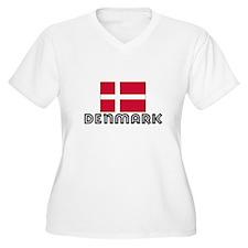 I HEART DENMARK FLAG Plus Size T-Shirt