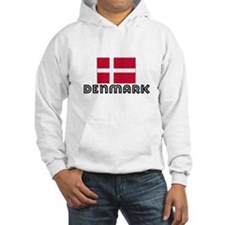 I HEART DENMARK FLAG Hoodie