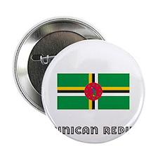 "I HEART DOMINICAN REPUBLIC FLAG 2.25"" Button"